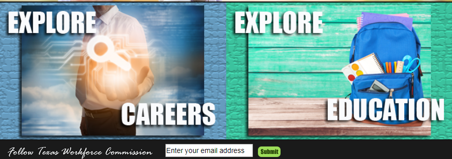 Visual about exploring careers and education