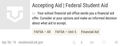 Texas OnCourse FAFSA module resources