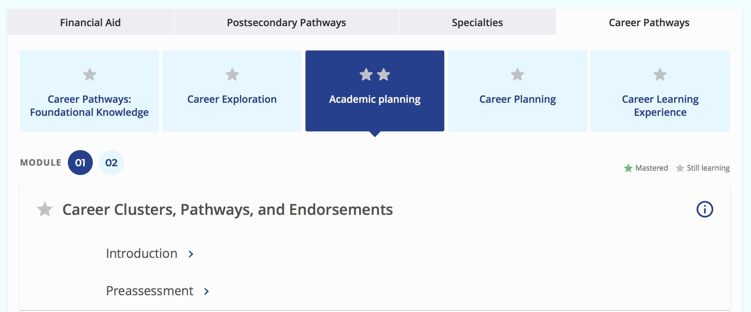 Career Clusters, Pathways, and Endorsements