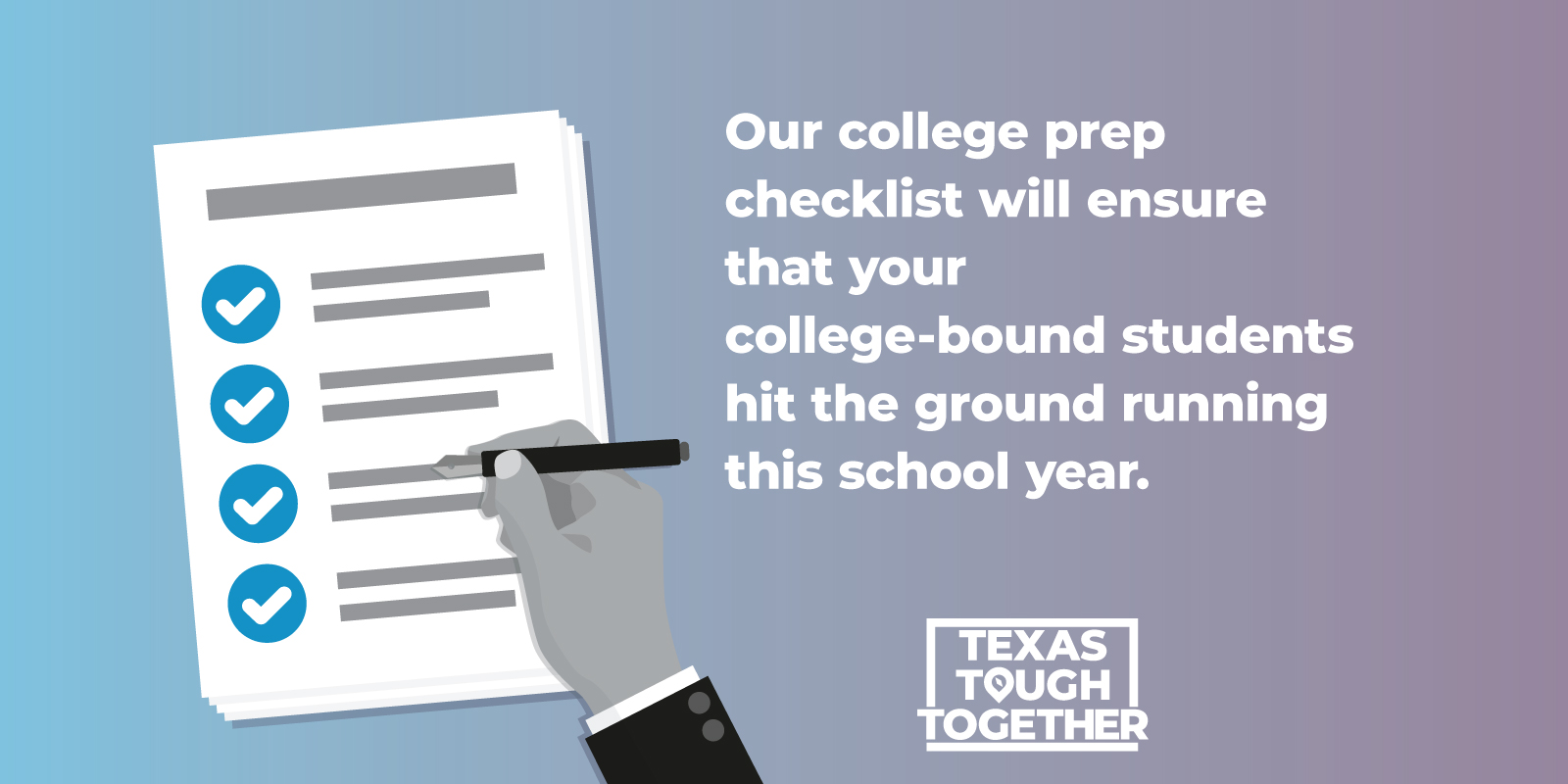 Our college prep checklist will ensure that your college-bound students hit the ground running this school year.