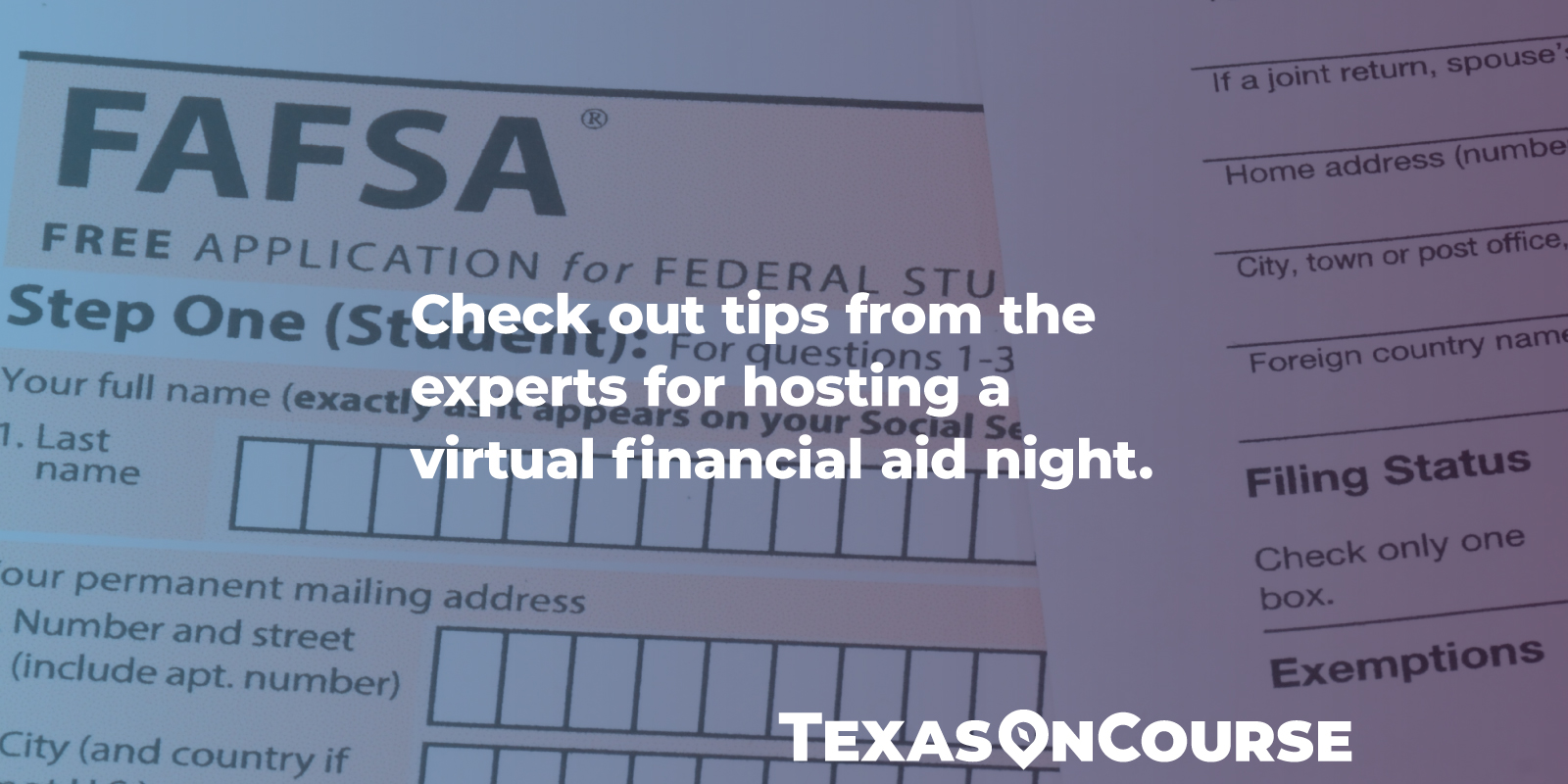 Check out tips from the experts for hosting a virtual financial aid night.