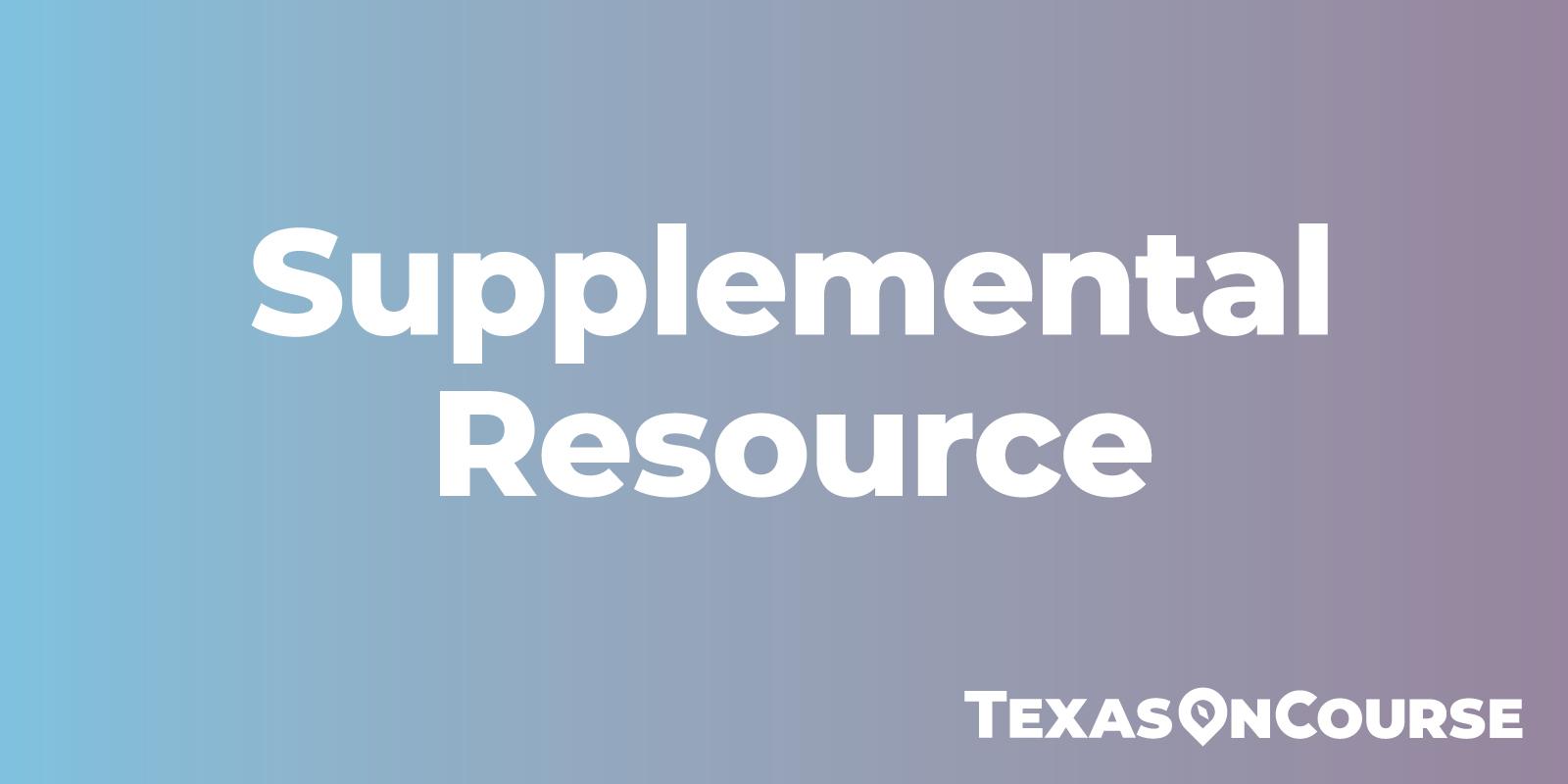 Supplemental resource