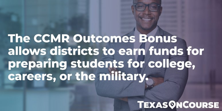 Learn how CCMR bonus funds are calculated and how school districts can use them to support their programs.