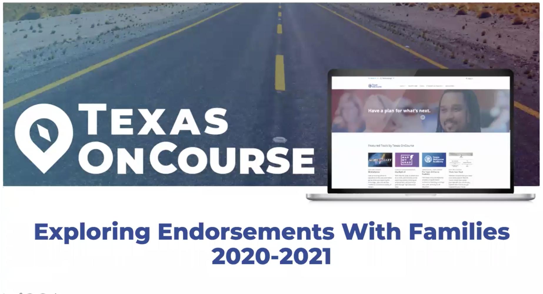 Exploring Endorsements with Families 2020-2021